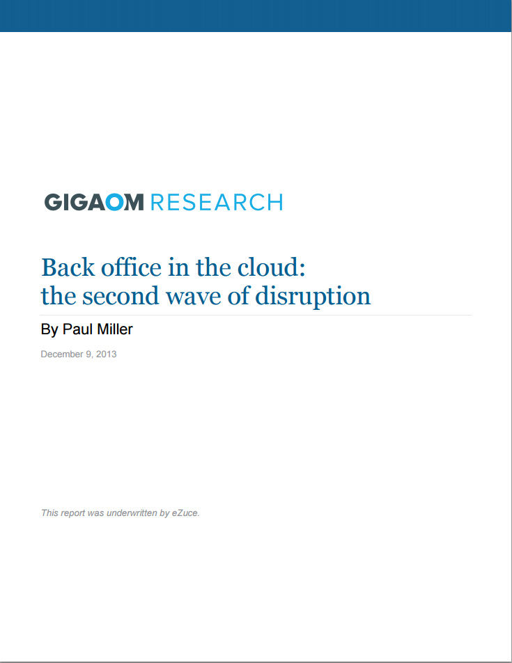 back office in the cloud