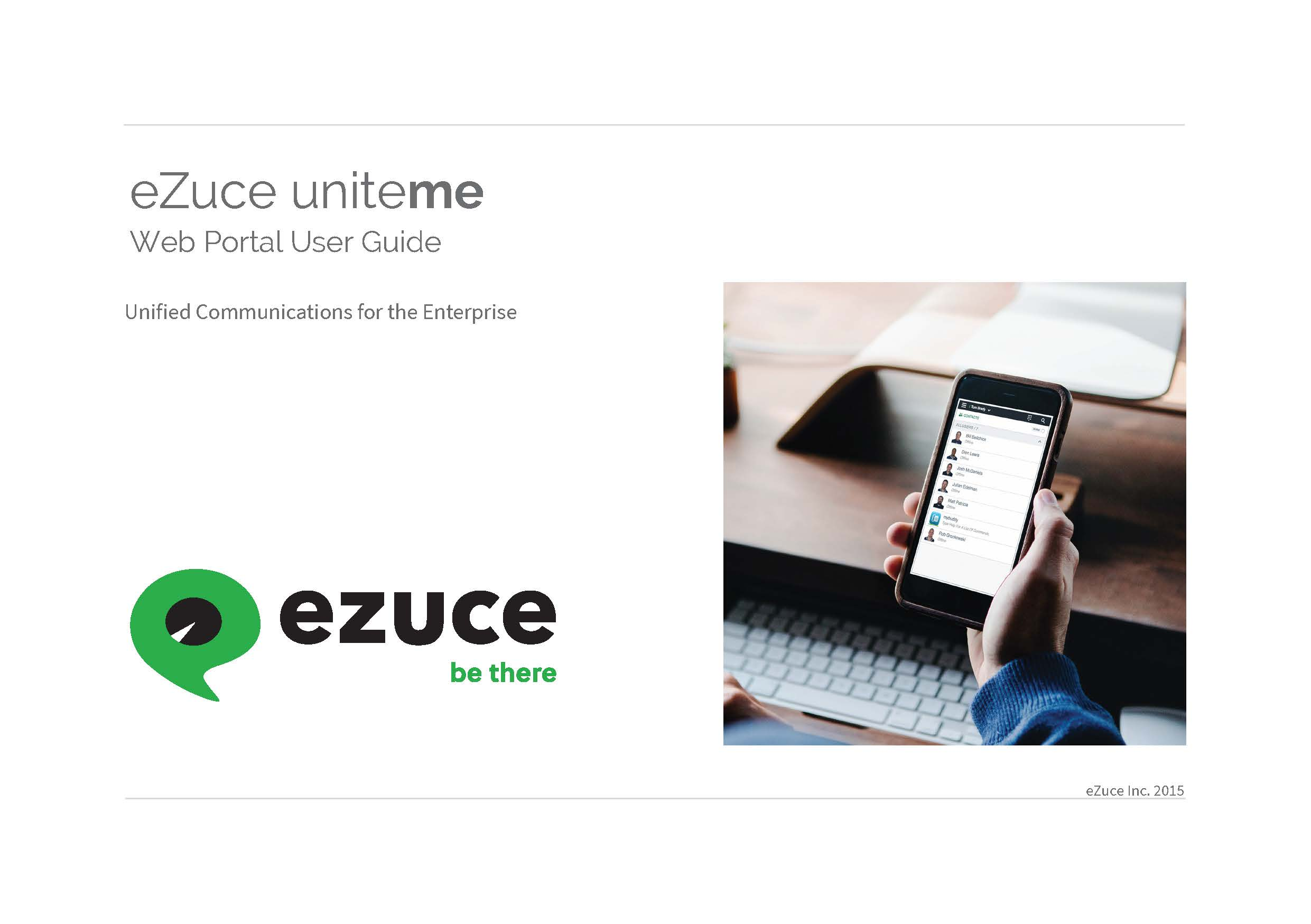 eZuce Uniteme Web Portal User Guide