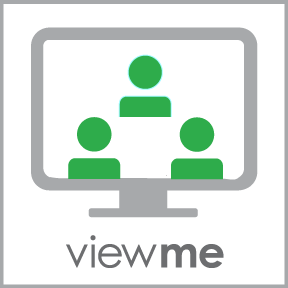 Viewme icon with words