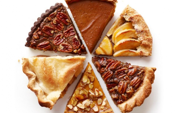 sharing pieces of pie